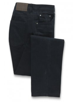Jeans ajusté toile de coton bleu marine Templeton