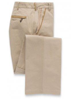 Pantalon classique en coton sable Tipnor
