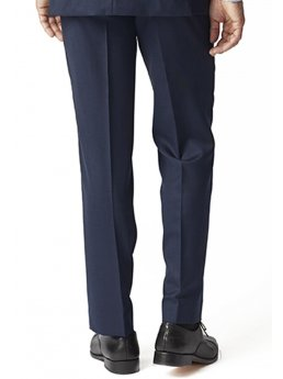 Pantalon de costume bleu marine à motif yeux d'oiseaux Dawlish