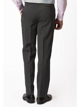 Pantalon de costume classique  à rayures et pli unique Morning