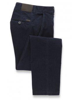 Pantalon velours côtelé jambe ajustée bleu marine Finningley