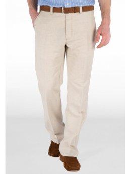 Sandwich pantalon coton lin