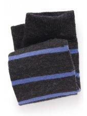 Anthracite avec la chaussette de bande de Heather