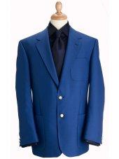 Blazer classique à poches en laine mélangée bleu roi Henley