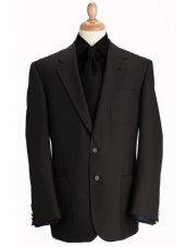 Blazer classique à poches en laine mélangée noire Henley