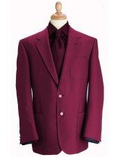Blazer classique à poches en laine mélangée pourpre Henley
