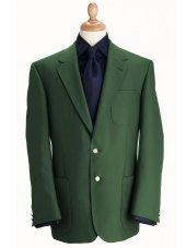 Blazer classique à poches plaquées en laine mélangée vert Henley