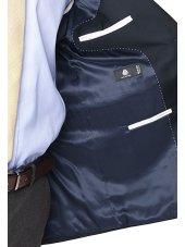 Blazer classique en laine bleu marine Otley