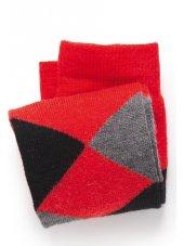 Chaussette rouge/grise/de noir Argyll
