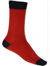 Chaussette simple rouge/noir