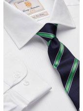 Chemise blanche en sergé royal 100% coton à manchette simple Easycare