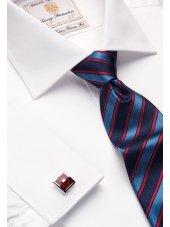 Chemise blanche popeline 100% coton à double manchette Easycare