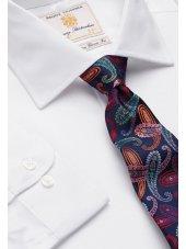Chemise blanche popeline 100% coton à manchette simple Easycare