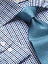 Chemise petits carreaux marine, bleu et vert simple de manchette