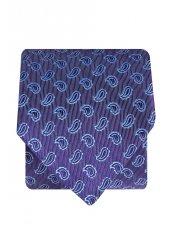 Cravate 100% soie lilas à motif cachemire