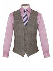 Gilet de costume à carreaux trois pièces 100% laine Tennyson
