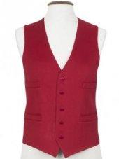 Gilet de costume en pure laine vierge rouge Boltby