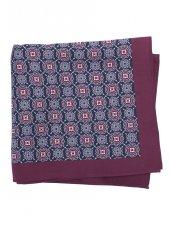 Mouchoir de poche 100% soie à motif lilas