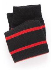 Noir avec la chaussette rouge de bande