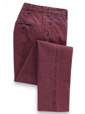 Pantalon couleur Merlot en Motta