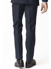 Pantalon de costume bleu marine à chevrons Dawlish