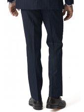 Pantalon de costume bleu marine à rayures Epsom