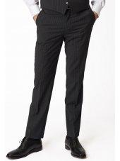 Pantalon de costume charbon de bois à fines rayures Imola