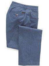 Pantalon en coton Bleu Océan