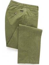 Pantalon en coton Vert Ciboulette