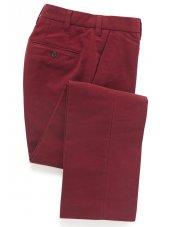 Pantalon en moleskine baie rouge Kibworth
