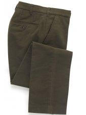 Pantalon en moleskine olive Kibworth