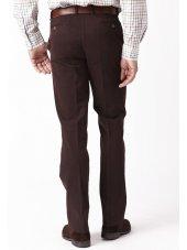 Pantalon en sergé lavé rouge marron Blakelaw