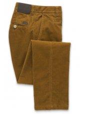 Pantalon velours côtelé jambe ajustée ambre Finningley