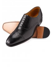 Semi-Brogue noire de Windsor