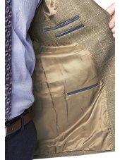 Veste à carreaux avoine 100% laine Camberley