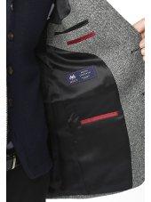 Veste à chevrons gris 100% laine Coverack