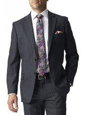 Veste de costume à rayures grises Epsom