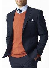 Veste de costume ajustée et lavable bleu marine Cassino