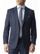 Veste de costume bleu marine à motif yeux d'oiseaux Dawlish