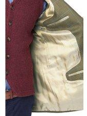 Veste en tweed de laine pure à carreaux bleus Hindhead